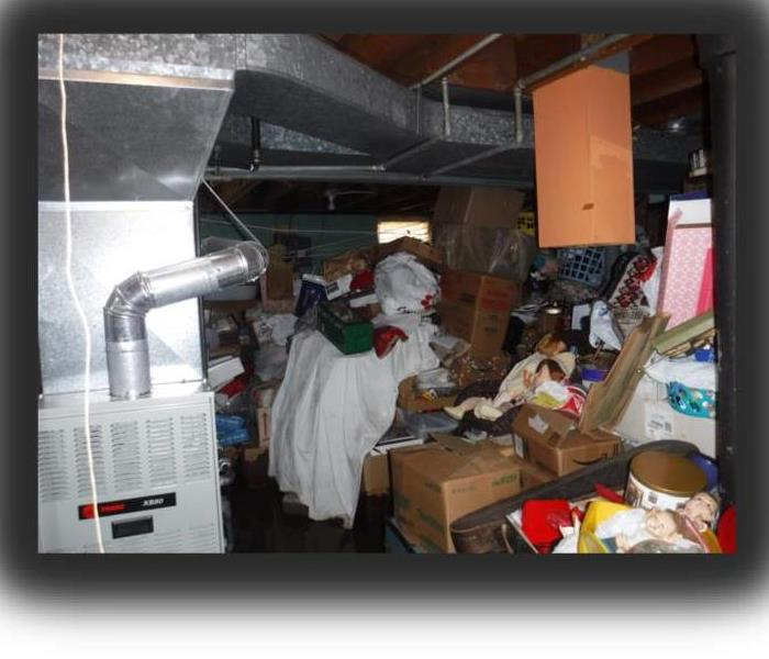 Hoarding and Water Damage Cleanup Before