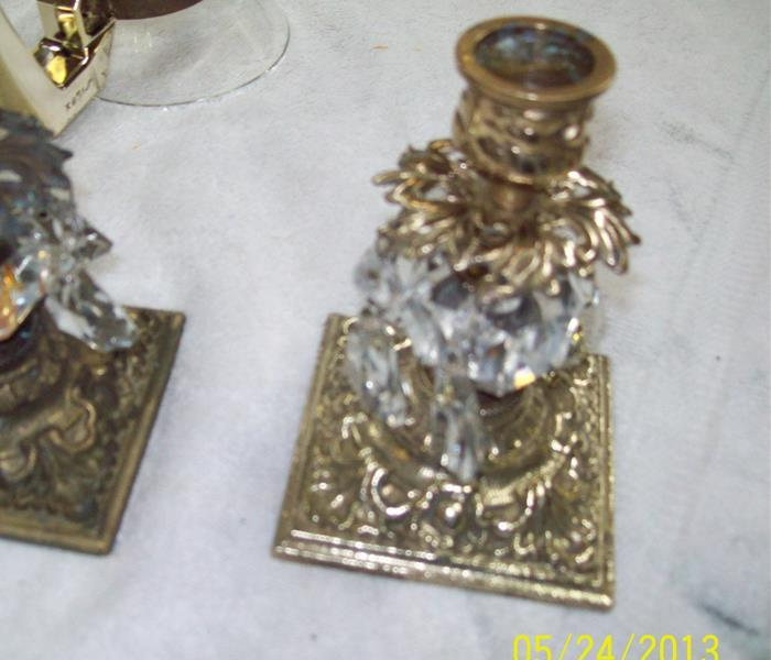 Fire Damaged Candlesticks After